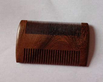 Black Sandalwood Wide Tooth Fine Tooth Beard Comb Exotic Aromatic Beard Basics