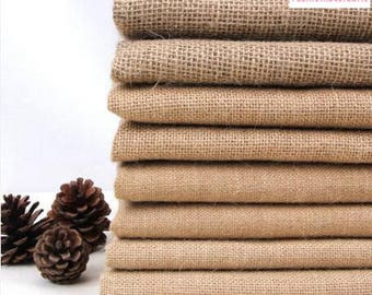Vintage Jute Fabric Burlap Fabric Jute Tablecloth DIY Photography Fabric  Background Fabric  (FSXIY)