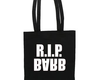 RIP BARB Tote Bag Stranger Things Bag Color Backpack Book Bag Halloween Back to School Fandom Cosplay Stranger Things Gift Party Present