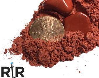 Crushed Red Jasper Powder - 100% Natural Stone Without Fillers