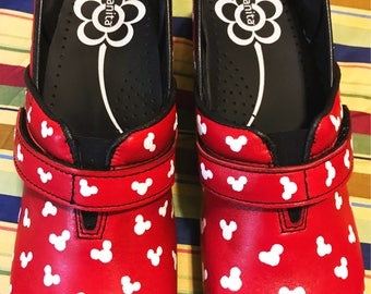 Custom painted Nursing/Mickey Sanita Clogs. Designed and personalized just for you!