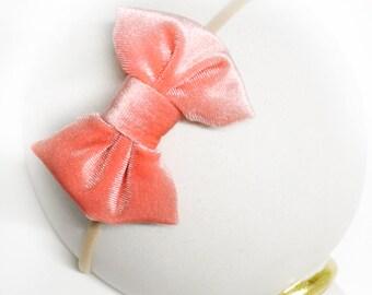 Persimmon Velvet Bow