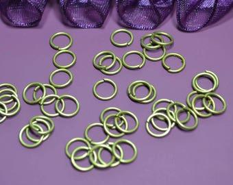 8mm jump rings bronze