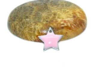 10 stars sequins pink 12mm