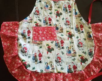 Old Time Christmas Apron for ladies