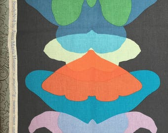 Half Yard - Field Study Linen by Anna Maria Horner for Free Spirit Fabrics - Ghost Wing in Dusk