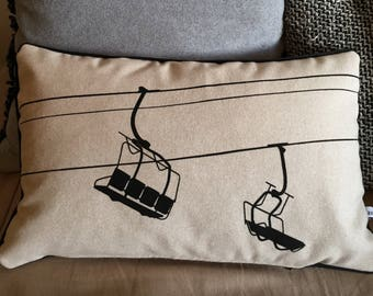 Chairlift ecru wool cushion