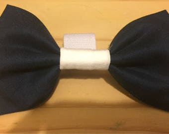 Navy and White Doggy Bowtie