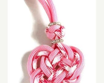 SUMMER CLEARANCE Celtic Heart Necklace - Heart Necklace - Celtic Necklace - Heart Jewelry - Celtic Jewelry - Celtic Heart Jewelry - Pink Nec