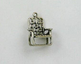 Sterling Silver 3-D Lawn Chair Charm