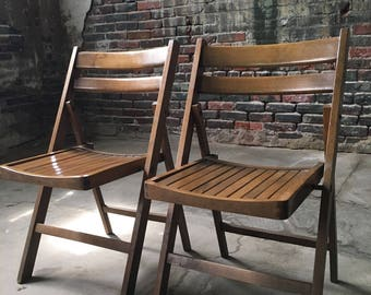 Antique folding chairs slat folding chairs antique chairs a pair