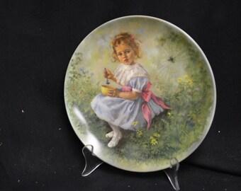 John Mc Clleland  Reco Little Miss Muffet Collector Plate 1981
