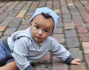Sky Blue Slouchy Baby Beanie