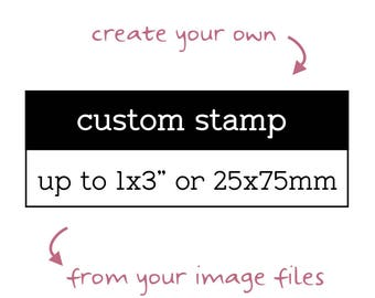 "Custom Logo Stamp, Up to 1""x3"", Personalised Business Stamp, Custom Image Stamp, Custom Branding Stamp, Custom Business Stamp, Craft Stamp"