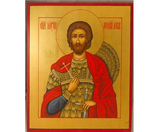 Russian Orthodox handpainted icon Saint John, Unique byzantine icon, Religious gift, Orthodox decor, Christian home decor Christian wall art