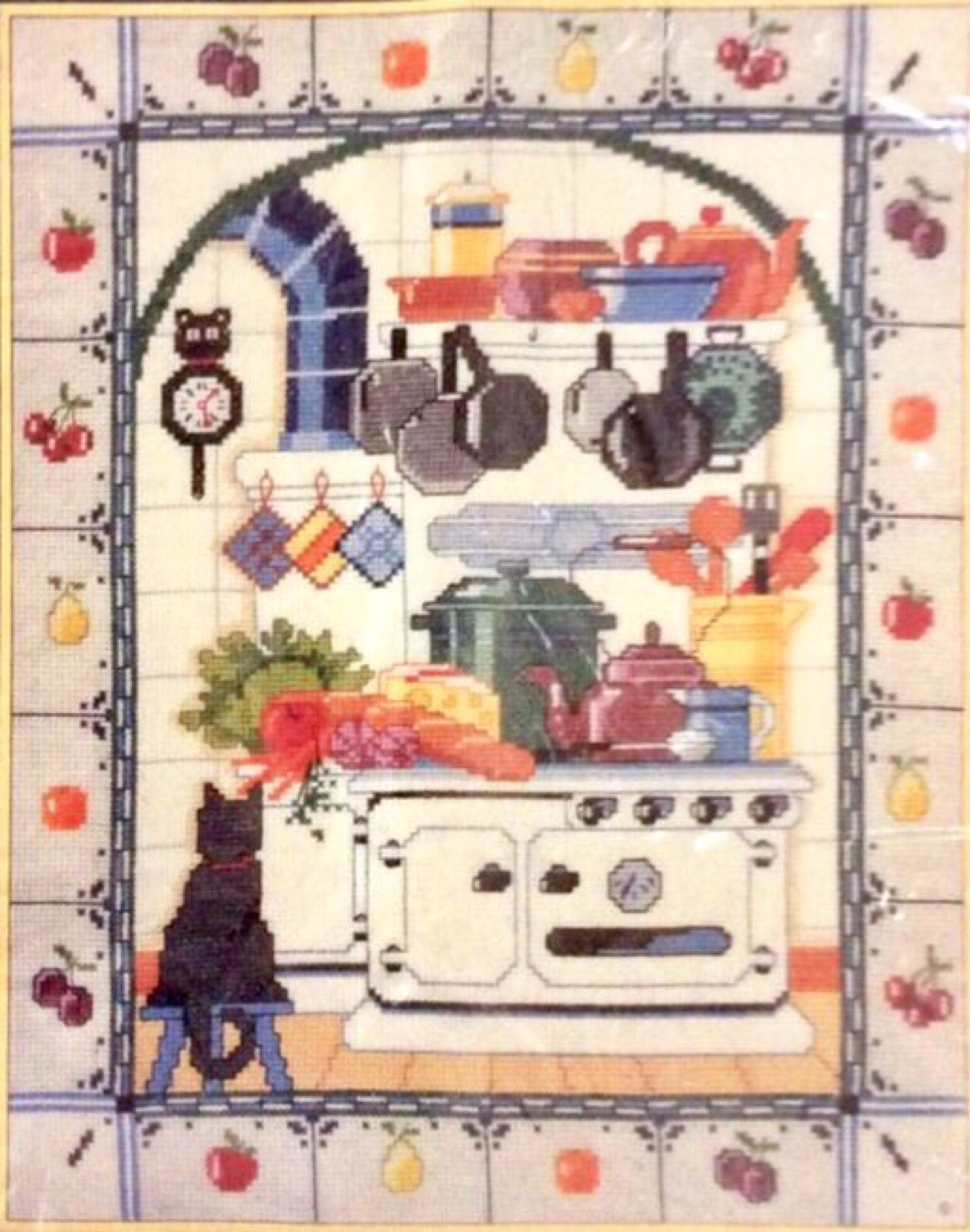 Sunset Counted Cross Stitch Kitchen delight Kit by Nancy Rossi