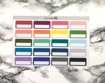 Event Blank BoxPlanner Stickers- Choose with custom writing