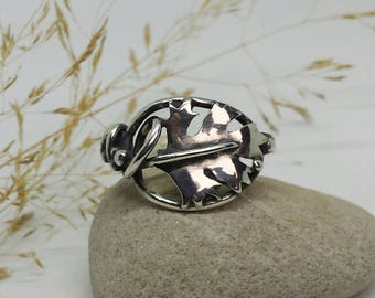 Sterling Silver Hawthorn Leaf Ring
