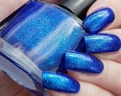 Atlantis ~ eten slaap maken collectie nagellak levendige blauwe Jelly Unicorn Pigment Holo UCC Flakies 10ML