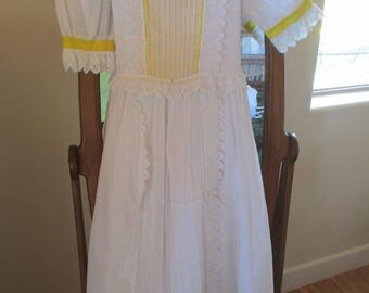Alice in Wonderland, Dress - Dress Up. Fancy - Repurposed for Theatre From a Catholic Confirmation Dress - Size 10 Child - Sewn in Crinoline