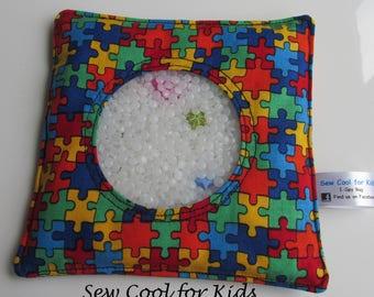I-spy bag -  Jigsaw fabric