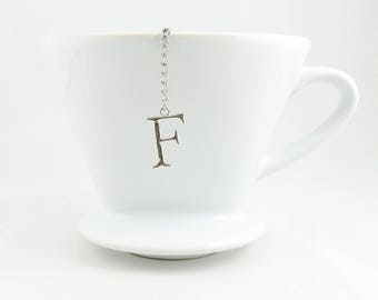 "Letter ""F"" Loose Tea Infuser Tea Strainer Mesh Loose Leaf Tea"
