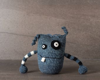 Vincent the Monster; amigurumi, crocheted, crocheted critter, teenager, toy, softie, gift.