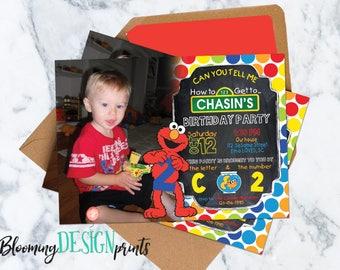Elmo Sesame Street Invitation - Birthday Party