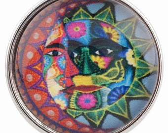 C0062  Art Glass Print Chunk - Colorful Celestial
