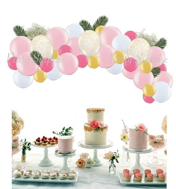Balloon Garland Arch Baby Girl 1st Birthday Girl Party Decoration
