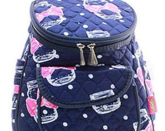 Quilted Mason Jar Backpack With Free Monogram