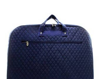 Solid Quilted Garment Bag with free monogram
