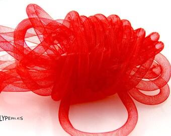 50cm 10mm red nylon mesh