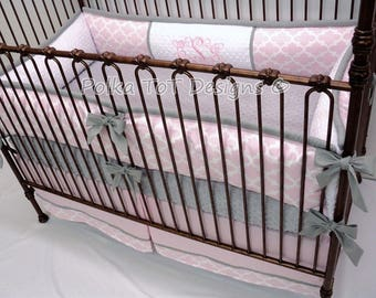 Pink & Gray Baby Bedding Set :Chloe