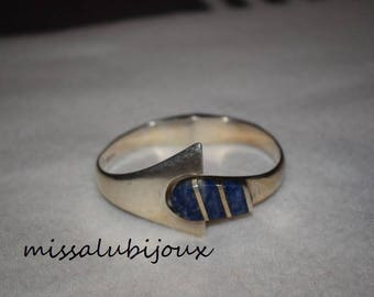 vintage bracelet in silver Sterling and lapis lazuli