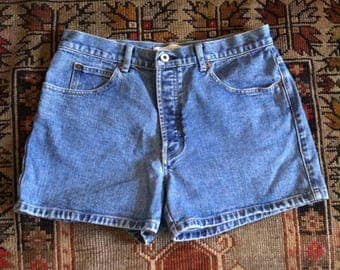 33 90s mid rise jean shorts
