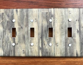 Rustic Wood Light Switch Plate Cover Planks // brown image 76 // SAME DAY SHIPPING**