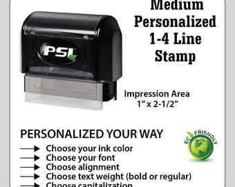 Medium Custom & Personalized 1 - 4 line Business Stamp, Custom Address Stamp, Personalized Stamp, Custom Stamp, Return Address Stamp, CS2264