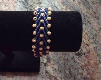 Blue and Ivory Bracelet