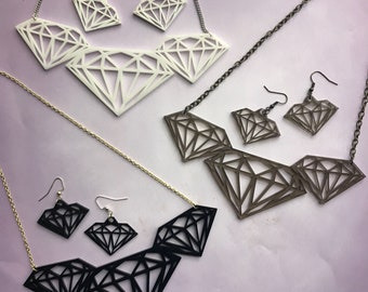 Diamond Laser-Cut Jewelry Set
