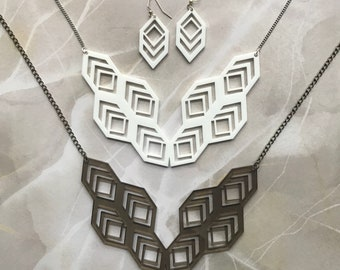 Honeycomb Laser-Cut Jewelry Set