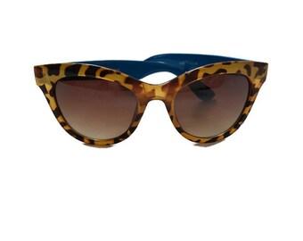 90s Leopard Print Cat Eye Sunglasses