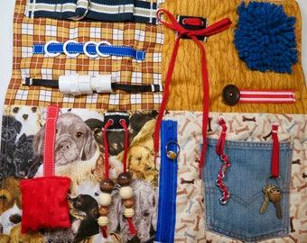 Dogs Fidget, Sensory, Activity Quilt Blanket