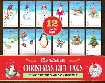 Christmas Gift Tags Printable, Christmas Gift Tags Download, Christmas Gift Tags Template, Gift Tags Christmas Personalized, Gift Tags