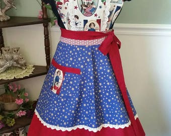 God Bless our Country Apron! Feminine and Beautiful!