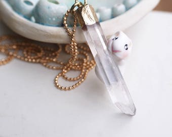 hubert necklace my hamster and his energene quartz