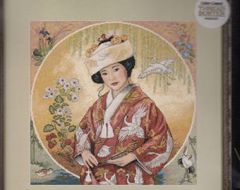 JAPANESE MAIDEN ~ Dimensions Gold Collection Counted Cross Stitch Kit  #35109
