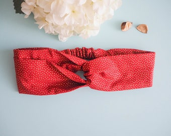 Head band style pinup double drouge gold dot - Vintage / retro
