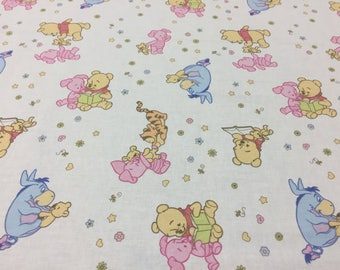Cotton fabric Vinnie Pooh - 100% Cotton fabric - 59 inches (150 cm) wide - Lightweight cotton fabric