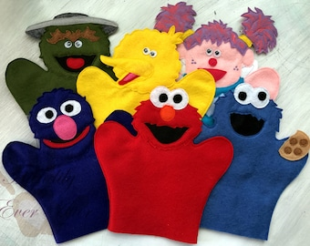 PATTERN ONLY Sesame Street Hand Puppets (Instant Download)